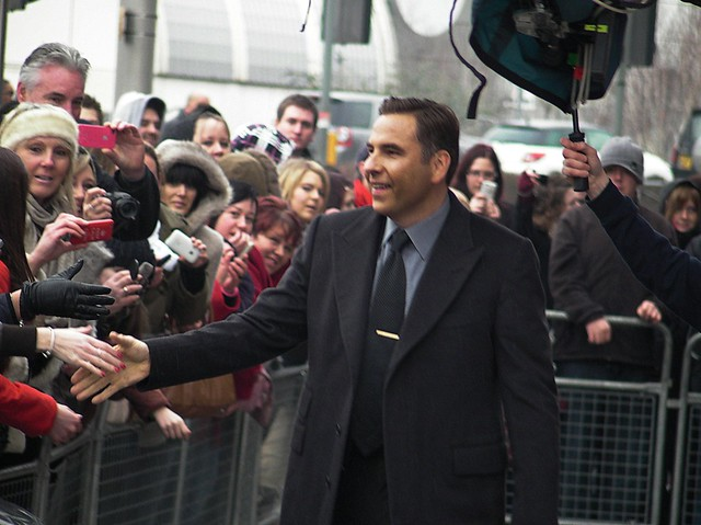 Britains Got Talent auditions, Cardiff. David Walliams arrivals.