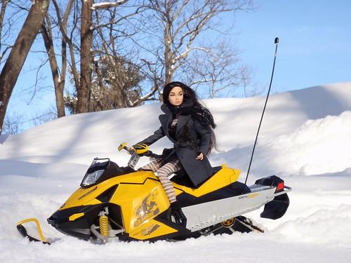 Poppy's Snowmobile Ride