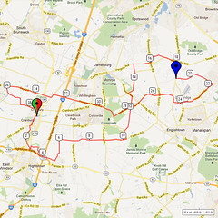 19. Bike Route Map. Cranbury NJ