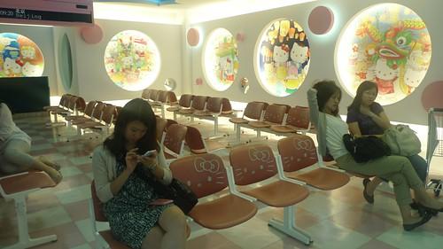 Hello Kitty Lounge at Taipei airport
