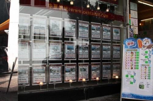 Real estate window in Stanley, Hong Kong