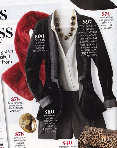 Urban Behaior Blazer and VSecret Shorts as seen in Instyle Dec. 2011