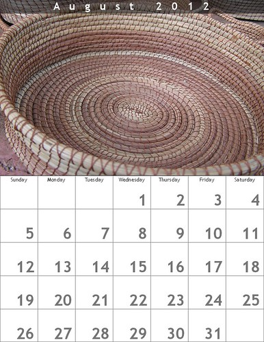 Tito's Pineneedle Basket, August Calendar #freeposter #oaxacatoday @BigHugeLabs