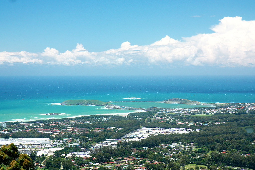View of Coffs Harbour from Sealy lookout