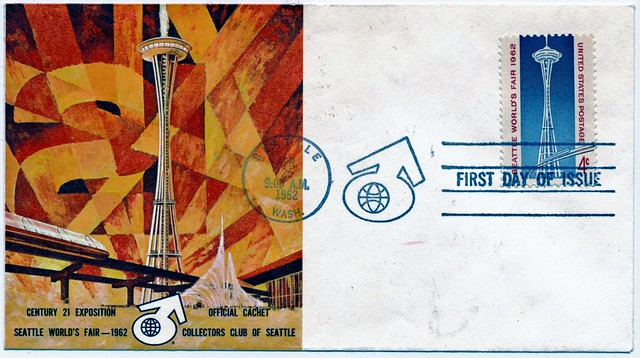 Space Needle - First Day Issue Stamp, 25 April 1962