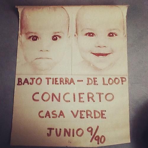 Bajotierra y De Loop. Concierto casaverde. Junio 9/90