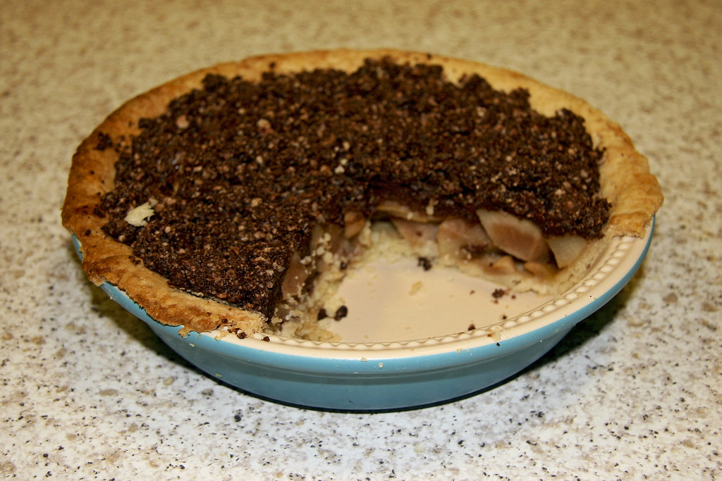 Pear Tart with Chocolate Crumble