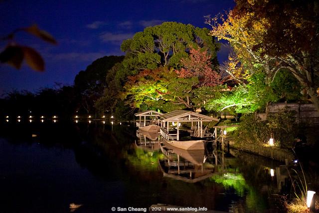 大覺寺夜楓