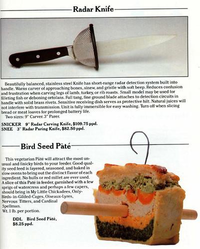 Radar Knife / Bird Seed Pate
