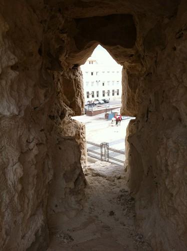 Arrow-slit in Qaitbey Citadel, Alexandria, Egypt