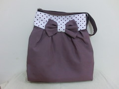 Mya bag in heart purple