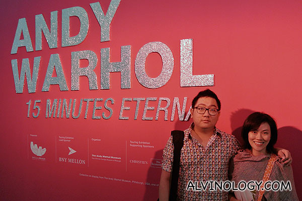 Rachel and I at the Andy Warhol exhibition at ArtScience Museum