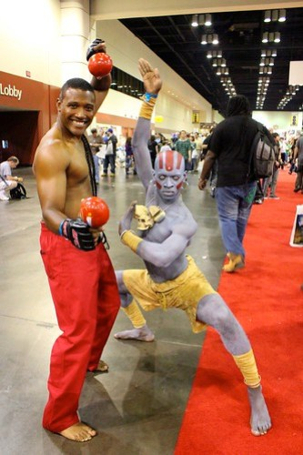 Dee Jay and Dhalsim - MegaCon 2012