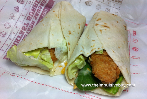 Burger King Crispy Chicken Snack Wrap (Ranch and Honey Mustard)