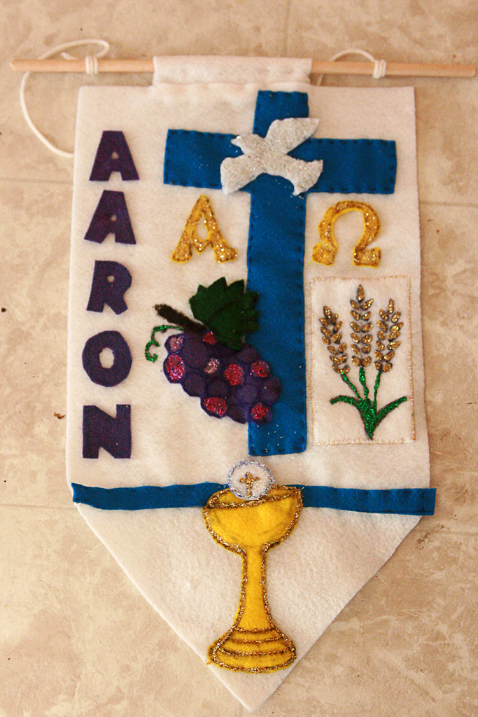 Aaron's Communion Banner