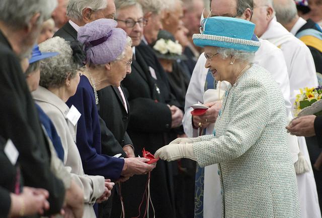 Queen Elizabeth II Gives Maundy Money