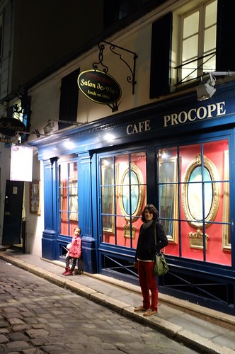 in front of the famous Cafe Procope