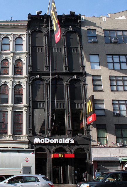 Cast-iron McDonalds, Canal Street between Lafayette Street and Courtlandt Alley.  New York City, New York.