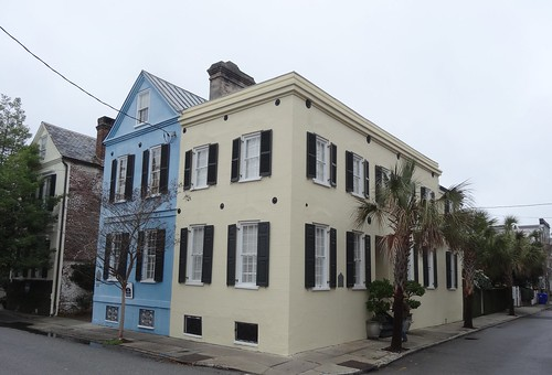 Historic Charleston houses.