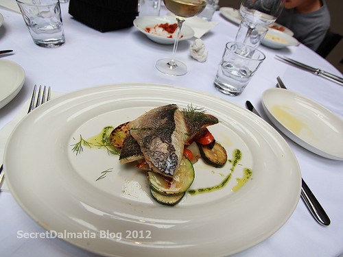 Sea bream on Mediterranean vegetables