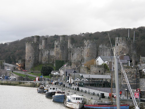 Conwy quay and castle