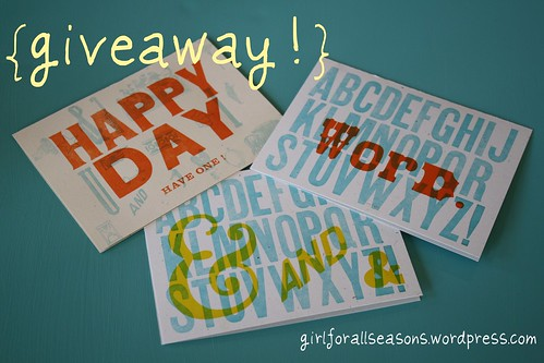 blog birthday giveaway!