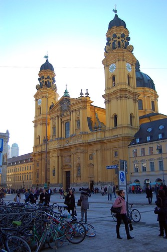 Theatinerkirche (St. Cajetan's Church) in Northern Old Town