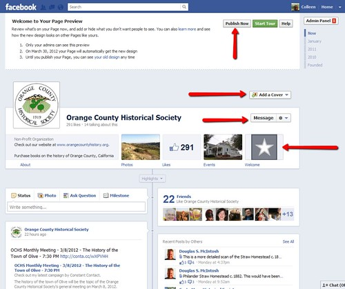 Facebook Pages Timeline - preview mode