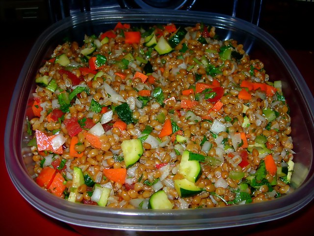 Vegan Wheatberry Salad