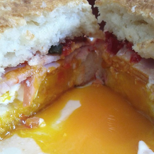 Biscuit Egg Sandwich at Fort Defiance