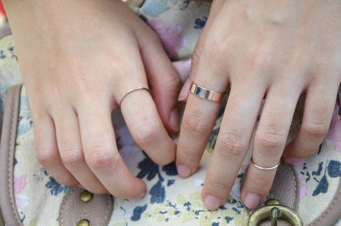 stacked rings, thin rings, delicate rings, rose gold rings