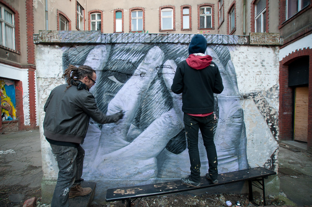 Hands Covering Face - At The Cave - Berlin - Artist James Bullough & Addison Karl