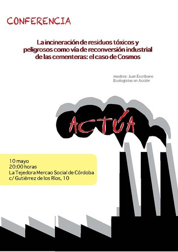Cartel Conferencia Incineracion 10 de Mayo