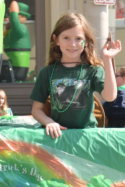 Caitlin on the Float