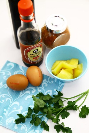 ingredients egg, mango
