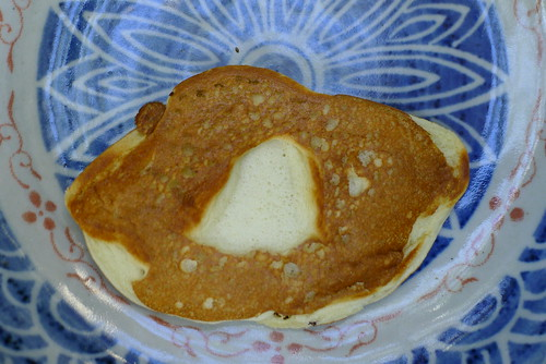 Singapore-shaped pancake