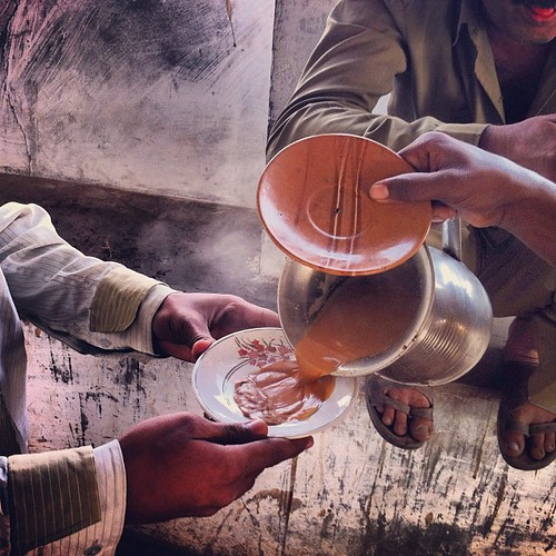Kachch, where chai is served in saucers, sans cups. by Unlisted Sightings
