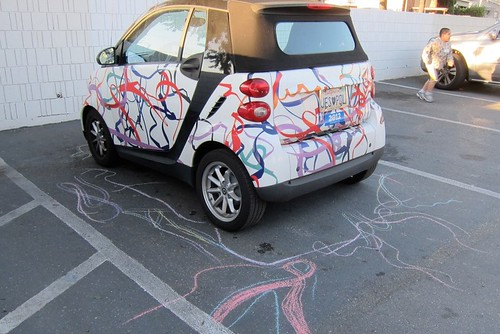 Smart Car with chalk drawings - SMUM - March 2012