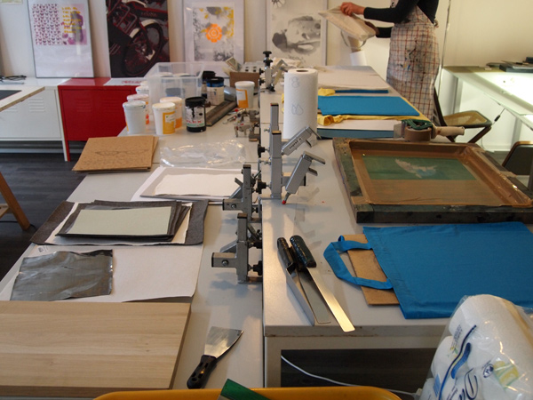 Siebdruckkurs im Berliner Drucksalo