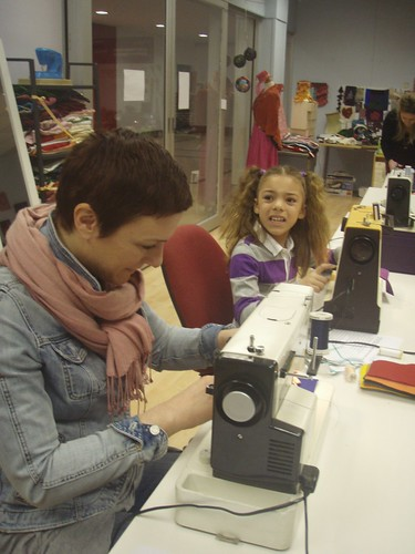 Mother & daughter sewing team