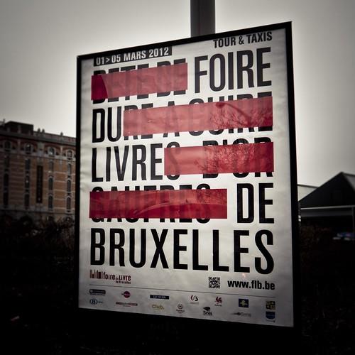 Foire du Livre de Bruxelles (affiche) - Tour & Taxis - Photo : Gilderic