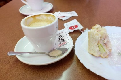 at a cute bakery in Gracia area