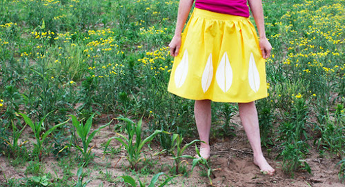 Noodlehead_ vintage inspired skirt tutorial
