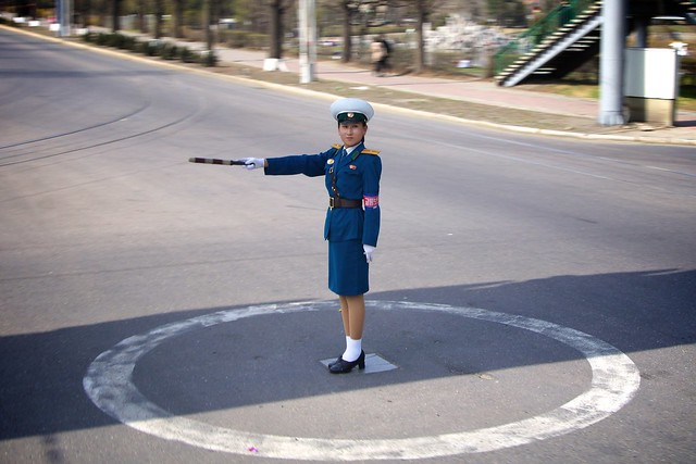 Pyongyang Traffic Girl