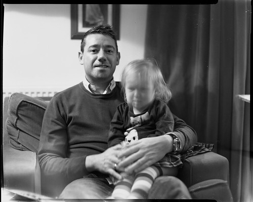 Graeme and Anna, Crown Graphic - Adox 100 (pushed to 400) by Sibokk