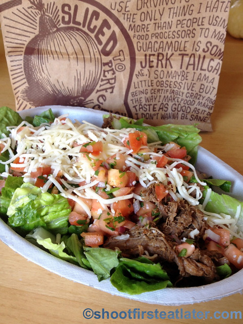 Chipotle's salad with barbacoa