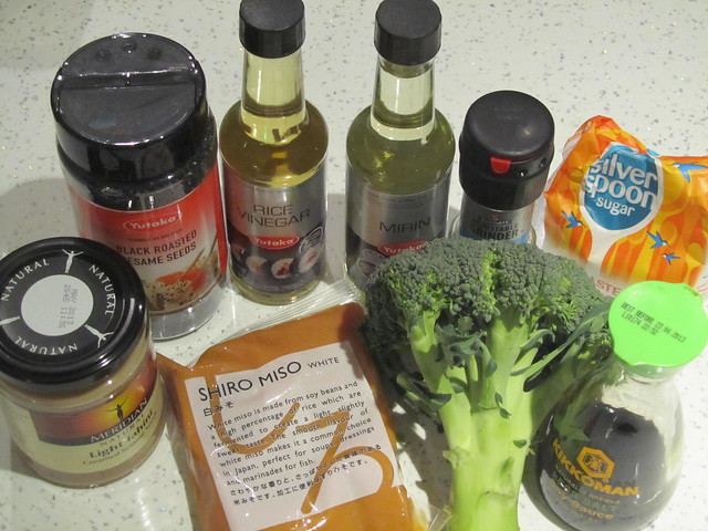 Cooking: Broccoli with Miso & Sesame Sauce