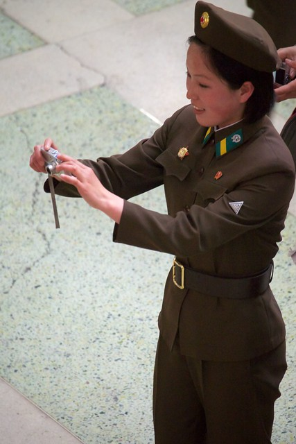 Soldiers Enjoy the Pyongyang Flower Expo