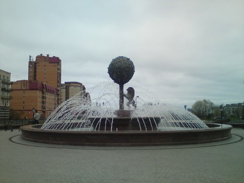 Померанцевое дерево - фонтан