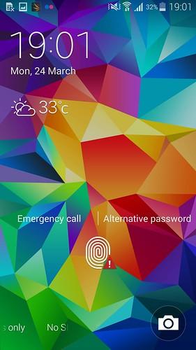 Lock screen ของ Samsung Galaxy S5